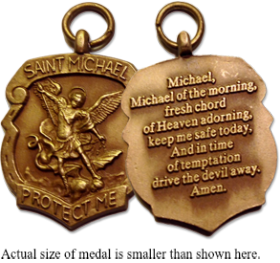 Request a St  Michael Medal