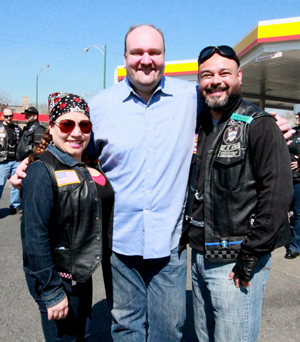 The Royal Warriors Motorcycle Club, in anticipation for their first interstate ride of the season.