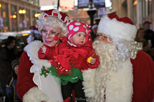 On the weekend of 14/15 DEC 2013, Santa and Mrs. Claus were driven once again in the