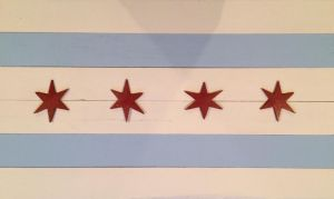 Chicago Wood Flag